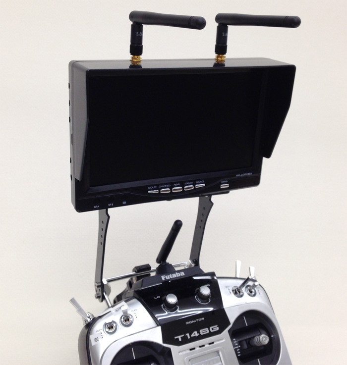 5.8Ghz Diversity LCD screen receiver monitor FatShark/ ImmersionRC/ DJI compatible