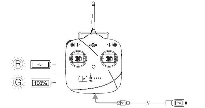 dji part16 p2v  remote control left dial  built