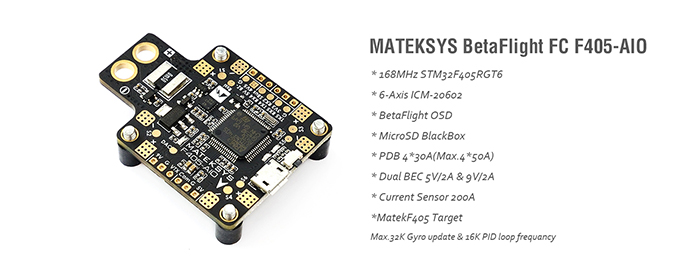Matek F405-AIO BetaFlight Flight Controller With Built-in PDB And OSD