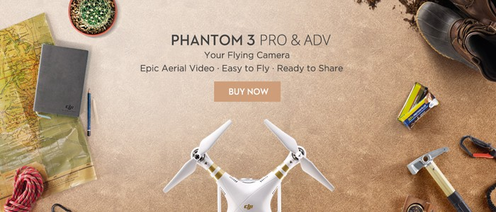 DJI Phantom 3 Professional Quadcopter with Integrated FPV Camera