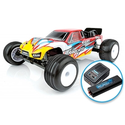 1/10 RC10T4.3 2WD Stadium Truck Brushless LiPo Combo RTR, Red (ASC7058CT1)