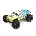 1/10 Ruckus 4WD Monster Truck Brushed RTR, Blue/Yellow (ECX03042)