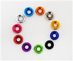 RCDH M3 Anodized Aluminum Washer - Red (1pcs)